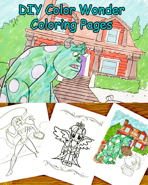 Scribbles & Dabbles: DIY Color Wonder Coloring Pages