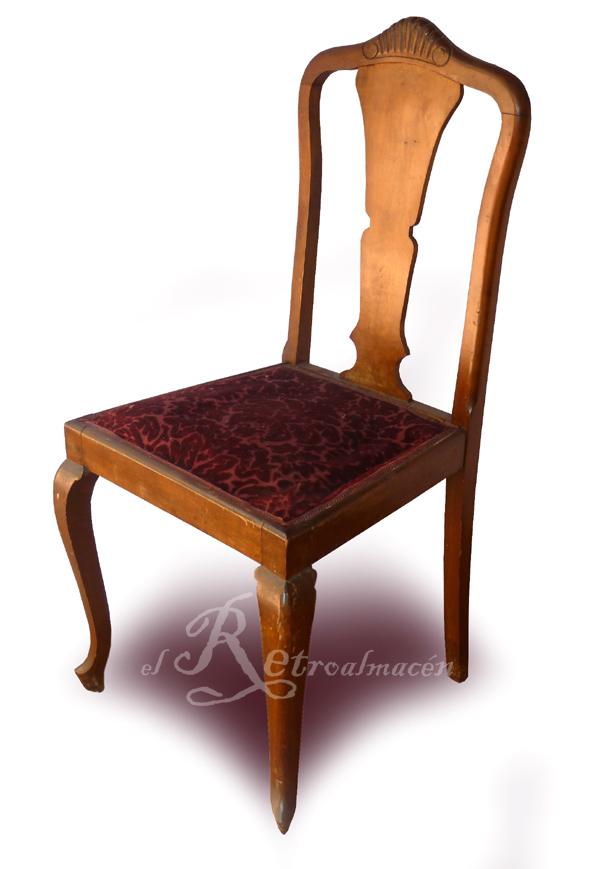 Retroalmacen tienda online de antig edades vintage y decoraci n 4 sillas antiguas en - La boutique de la silla madrid ...