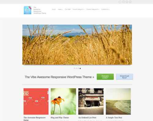 vFlex - free flat & minimalistic WordPress theme