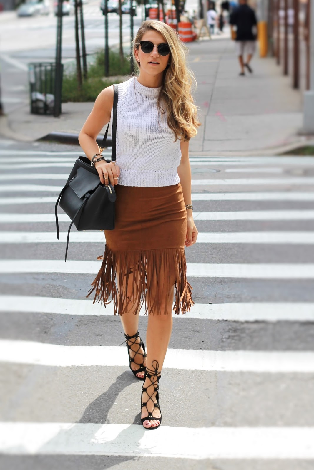 forever21 fringe skirt, long fringe skirt