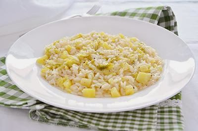 Risotto con verza e patate