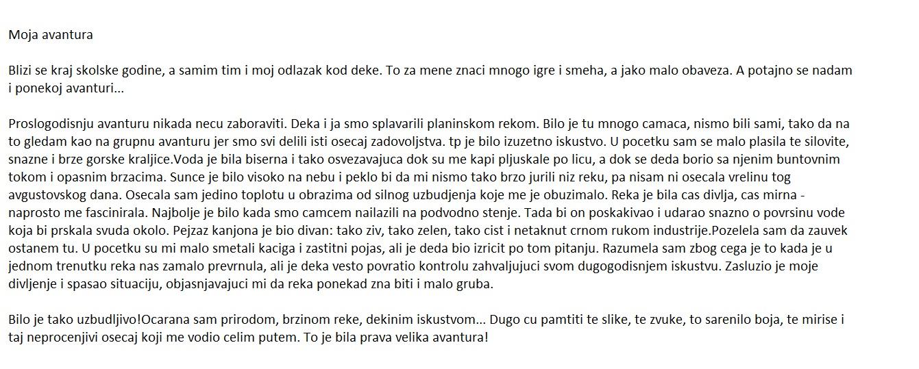 Sastav - Pismeni Sastav iz srpskog