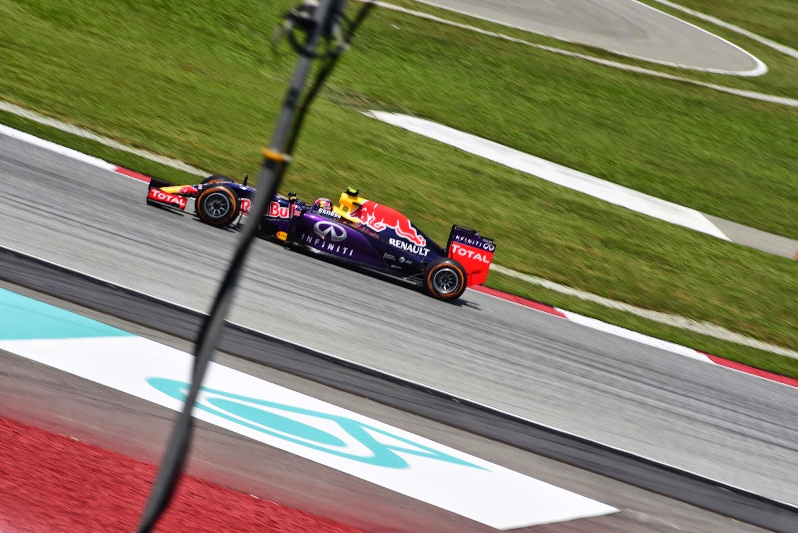 Ricciardo in a red bull car