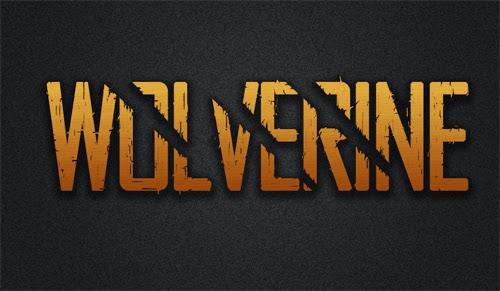 Photoshop Tutorial  Wolverine Text Effect