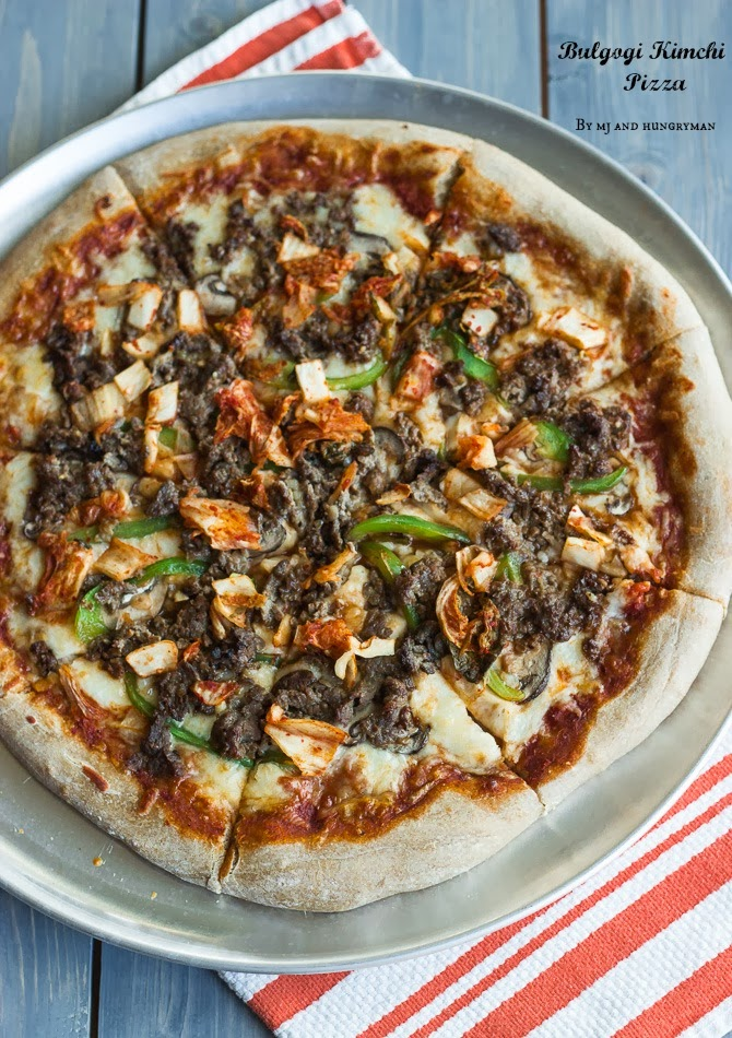 Bulgogi Kimchi Whole Wheat Pizza