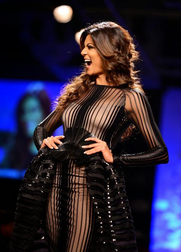 Sushmita Sen Stuns In Sheer Black Outfit