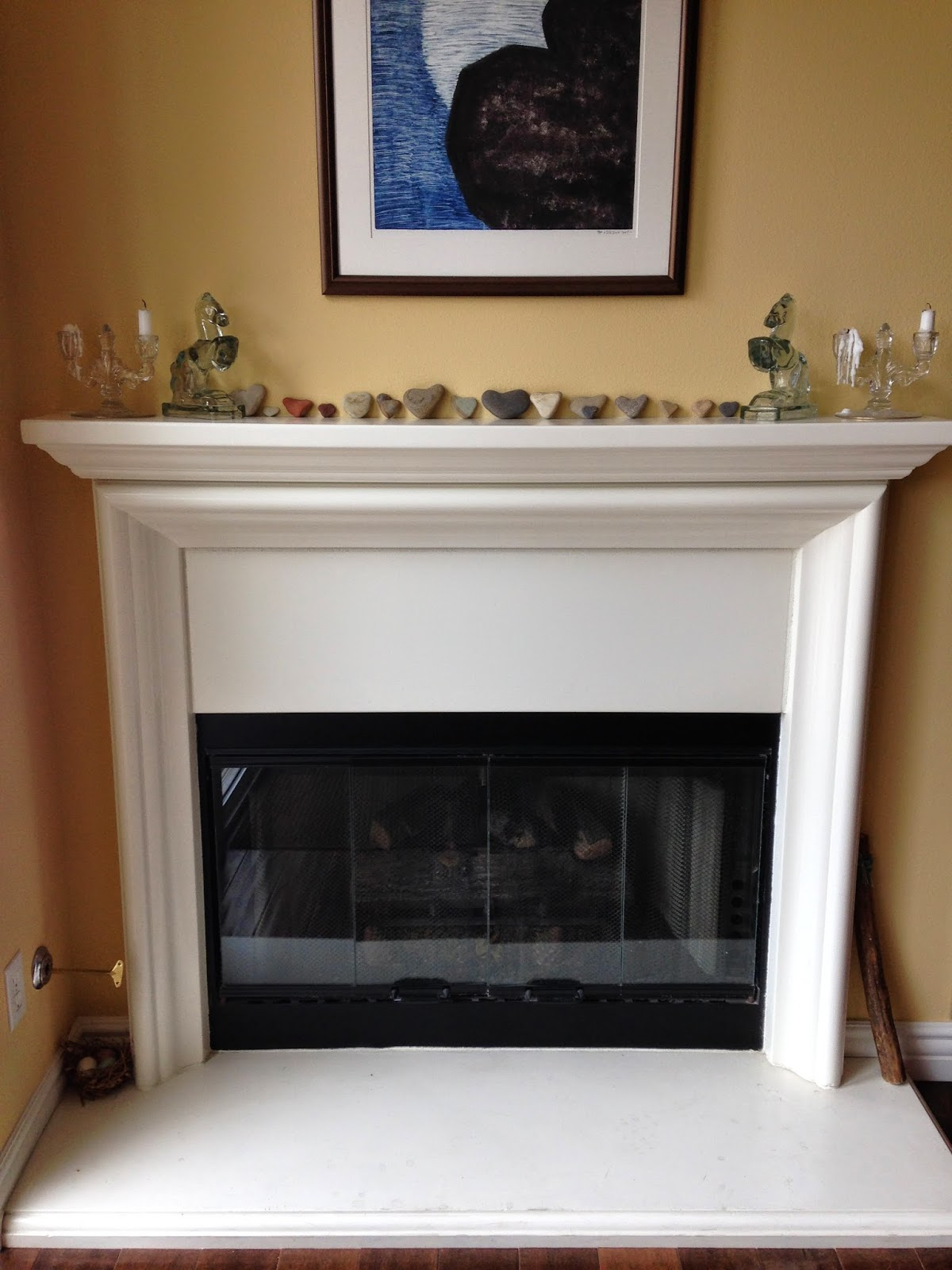diy glass fireplace surround blogher