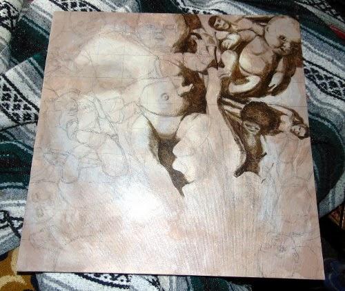 Painting: Rummage progress 02