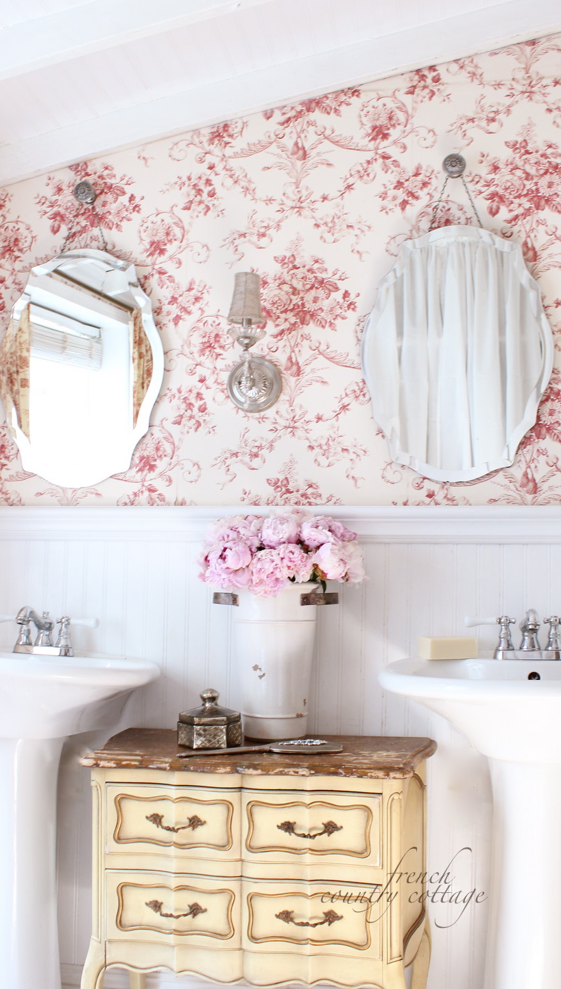 French country cottage changes in the bathroom for French country cottages