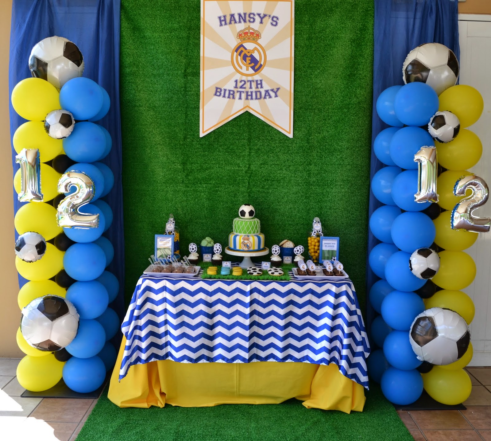 Partylicious events pr real madrid soccer party - Real madrid decorations ...