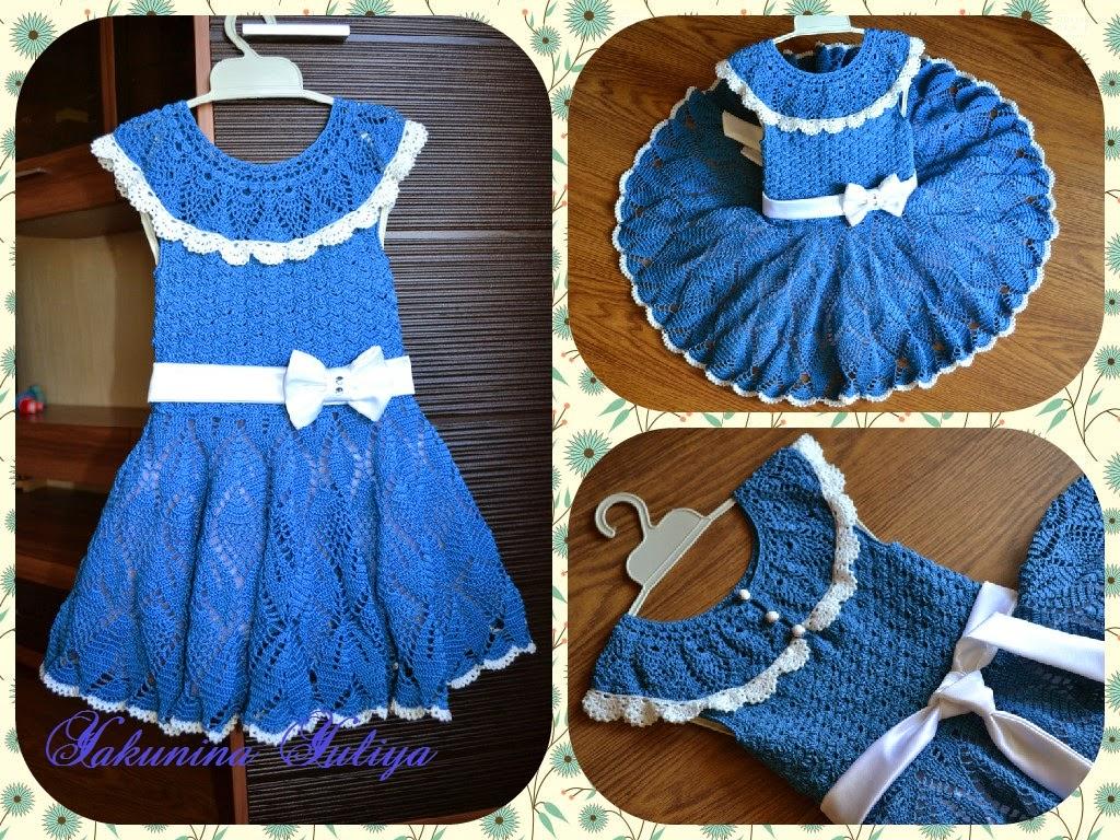 Вязание крючком платья на выпускной в детском саду 82