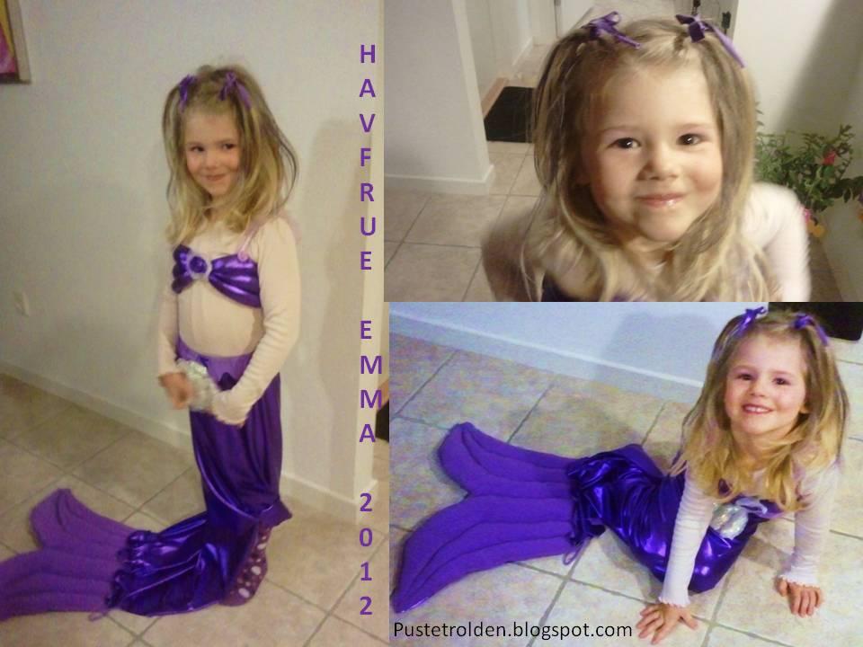 Emma er glad for udklædningen og jeg er glad for at pigebarnet, kunne