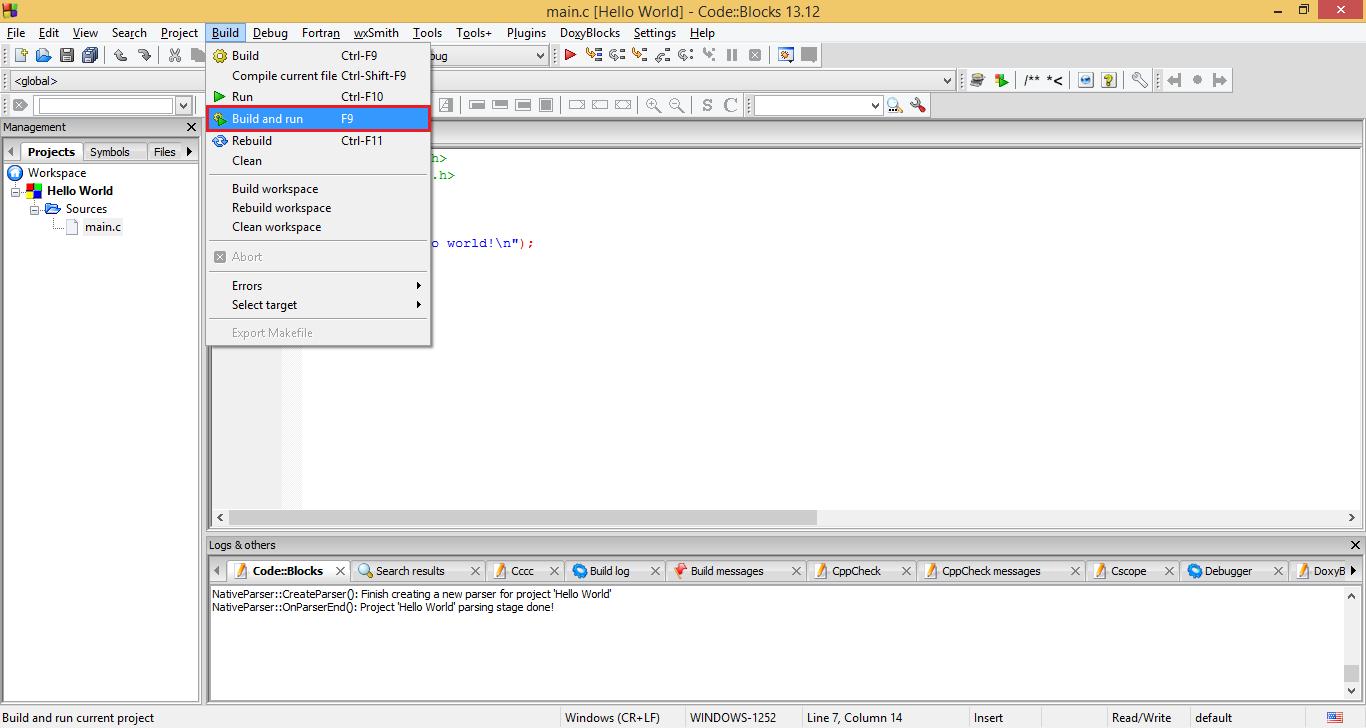 How To Create New C C Project In Codeblocks Codeforwin