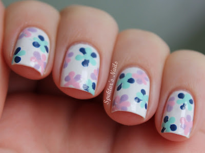 Dotted Flowers Nail Art