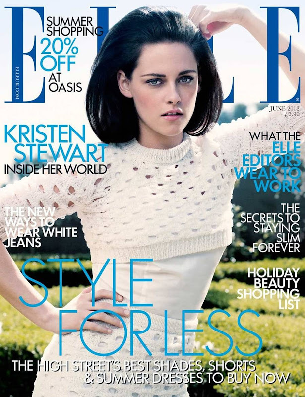 Kristen Stewart graces the upcoming cover of ELLE Magazine UK, June 2012 Issue