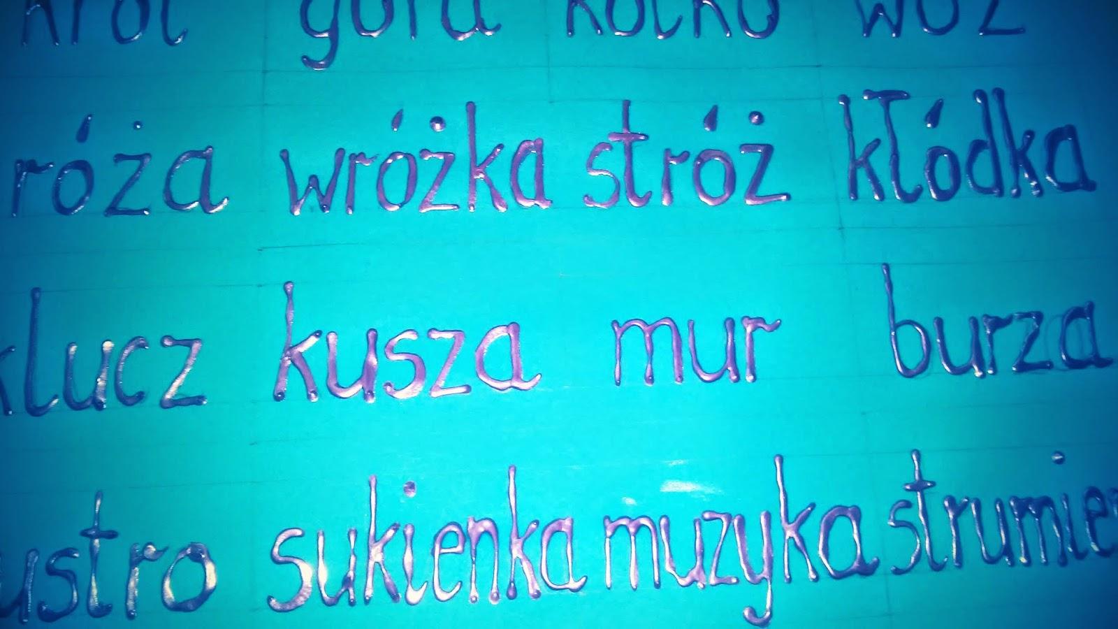 dotykamy ortografii :)