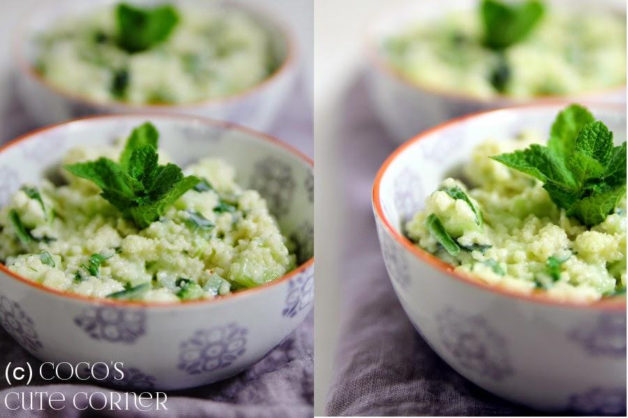coco 39 s cute corner couscous salat mit gurke und minze. Black Bedroom Furniture Sets. Home Design Ideas