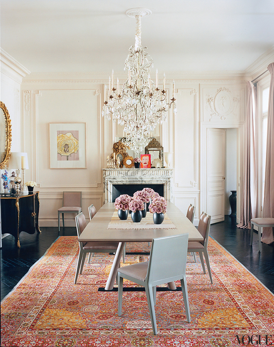 L 39 wren scott 39 s paris apartment for Homes with beautiful dining rooms