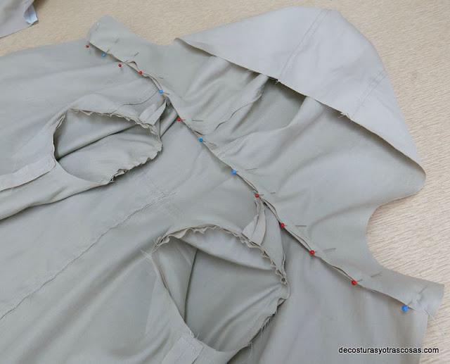 montaje de una gabardina o abrigo