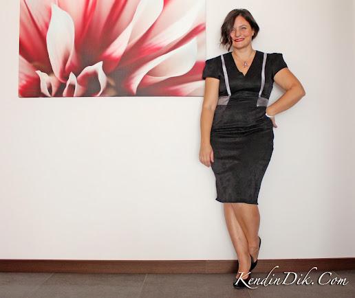 siyah gümüş abiye kokteyl elbisesi blog