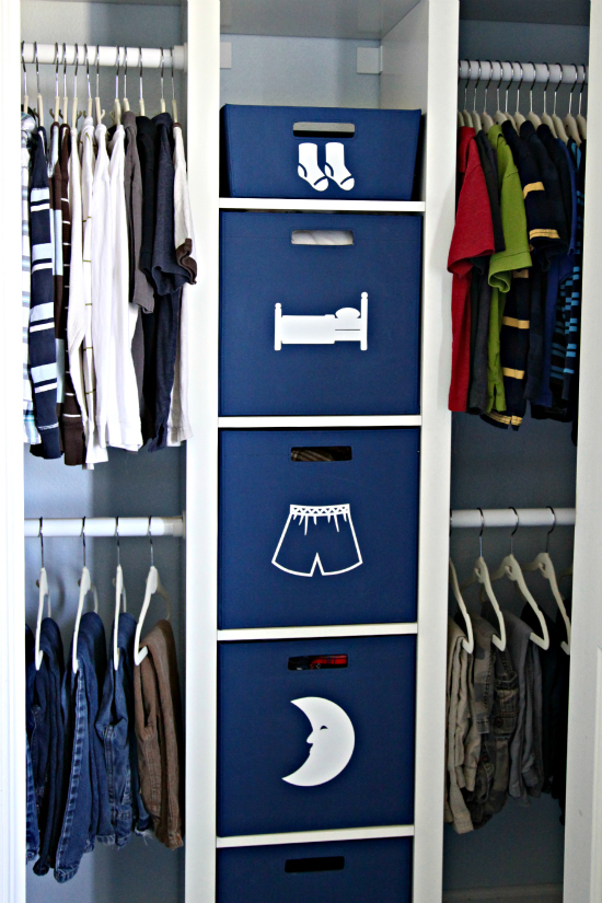 IHeart Organizing: Conquering Clothing Clutter: Kid's Closet
