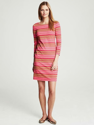 pembe renk elbise, çizgili elbise, desenli elbise ,2014 elbise modelleri