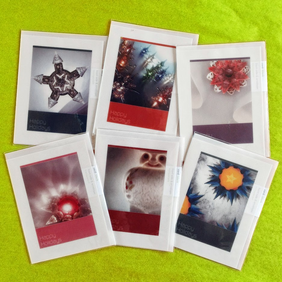 Series of 6 art photography cards featuring vintage lights from the 1920s to the 1960s.