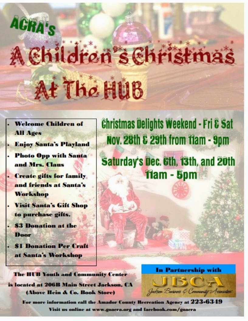 A Children's Christmas at The Hub - Nov 28 & 29, Saturdays in Dec