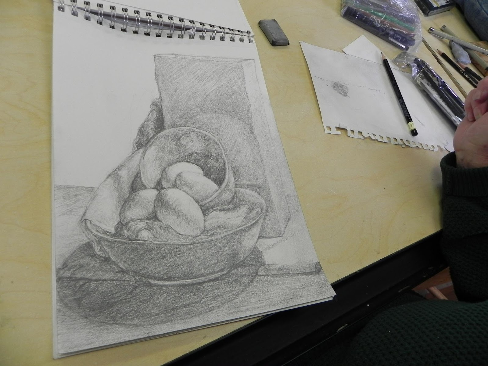 April S Art Yesterday In Drawing Class