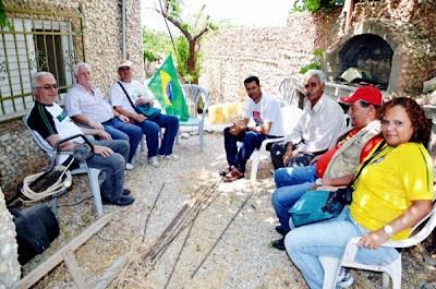 Brasileiros se reunem com líder da resistencia palestina
