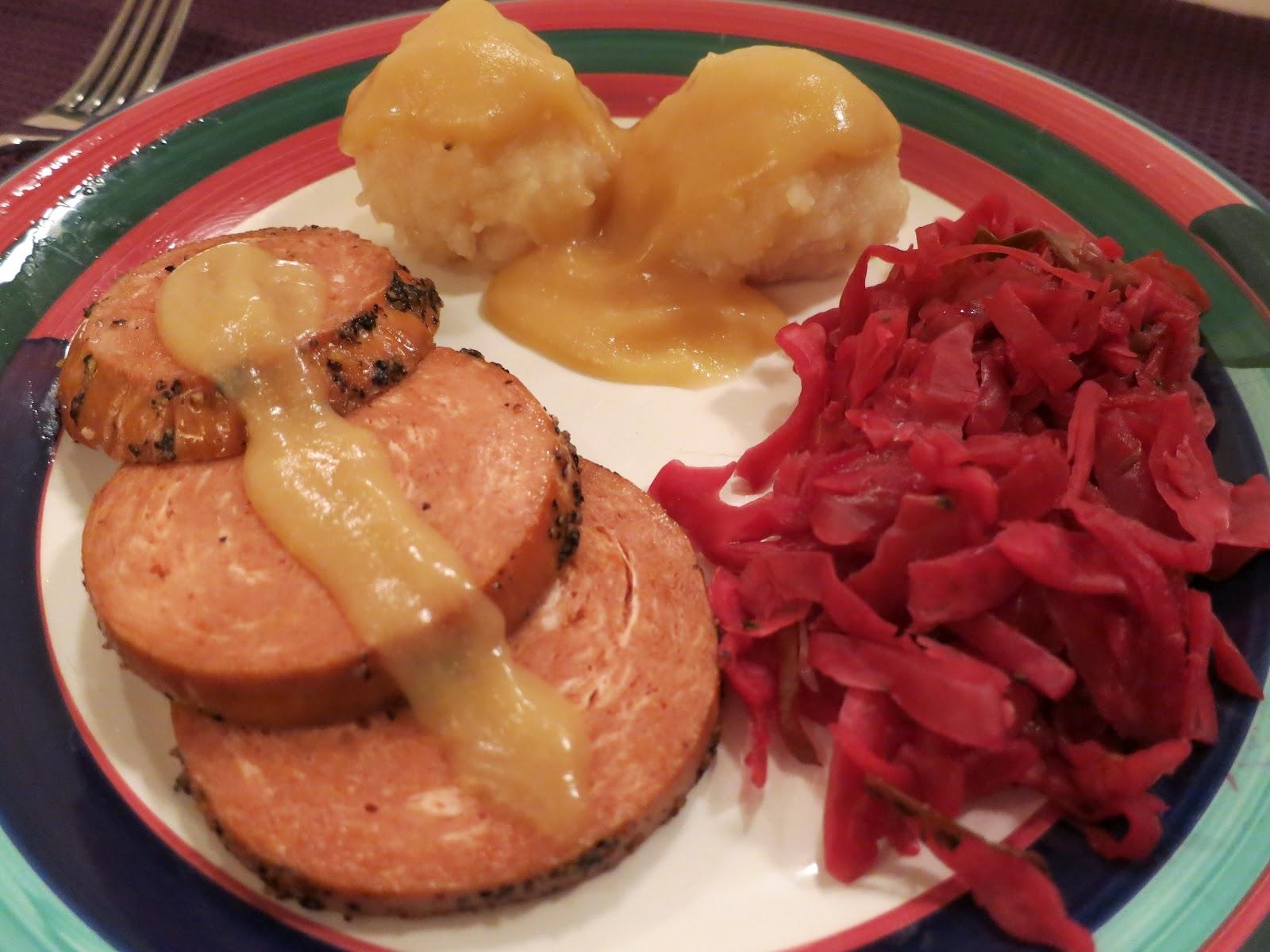 The veracious vegan german vegan meal ham potato dumplings and the veracious vegan german vegan meal ham potato dumplings and sauerkraut forumfinder Gallery