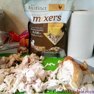 Instinct Raw boost mixer with turkey