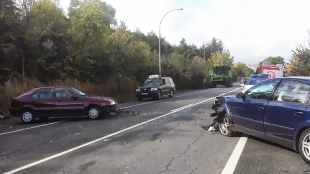 accidente en la salida norte de Béjar a la altura de Yuste