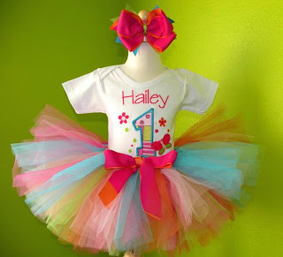 Butterfly 1st Birthday Baby Tutu Set