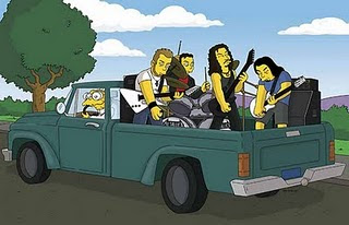 Metallica desenho simpsons