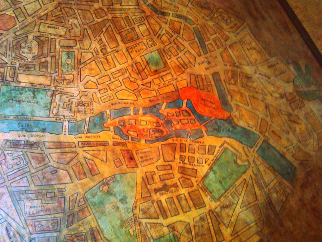 Mapa Paris Rambla Girona. Encants de Girona