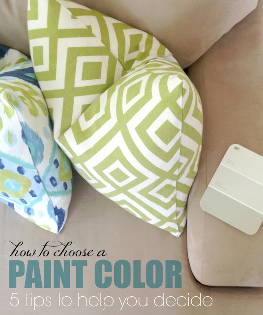 How to choose a paint color: 5 tips to help you decide! Awesome tips!