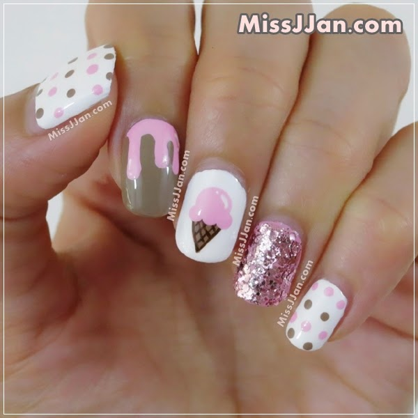 Cream Nail Art: MissJJan's Beauty Blog ♥: {Tutorial} Ice Cream Nail Art