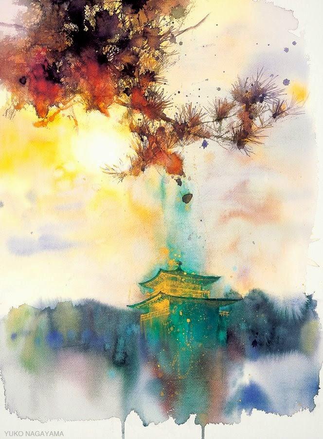 yuko nagayama 永山裕子 1963 symbolic watercolor painter tutt