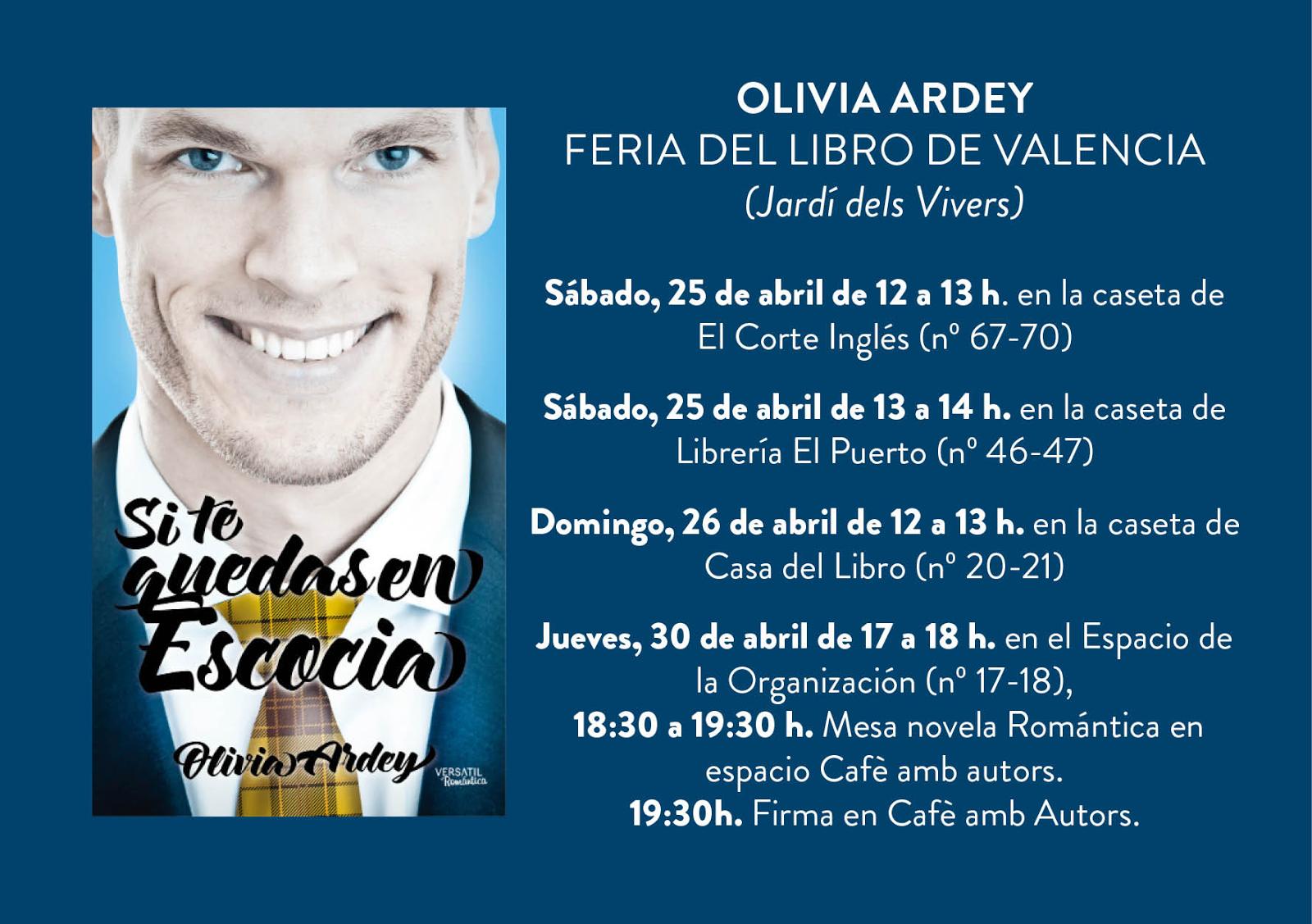 Olivia ardey horario firmas feria del libro valencia - Casa del libro valencia horario ...