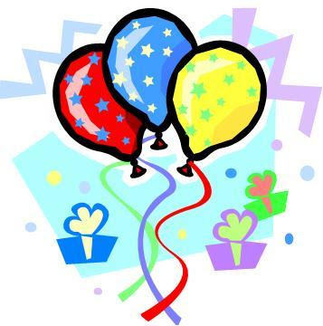 Clip art of a colorful conical birthday party hat