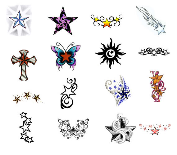 Tattoo Ideas With Stars: Women Fashion And