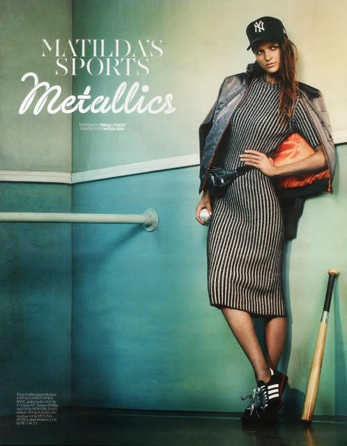 Stylish sports luxe fashion magazine editorial