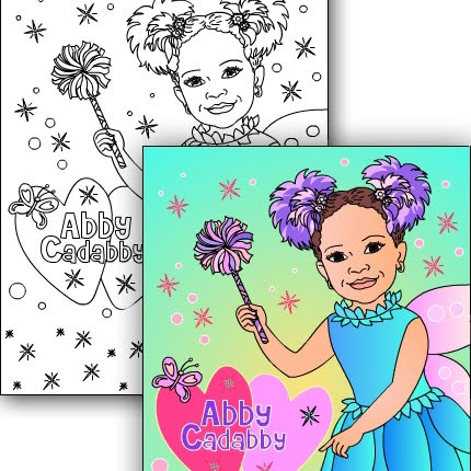 NEW* ABBY CADABBY Custom coloring page