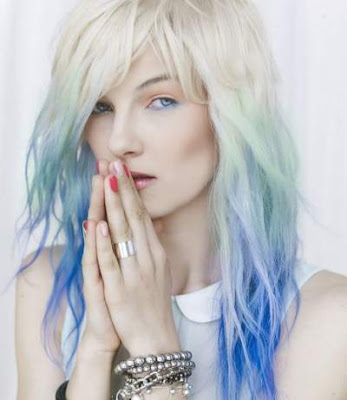 Warna pastel highlights rambut layer 2016