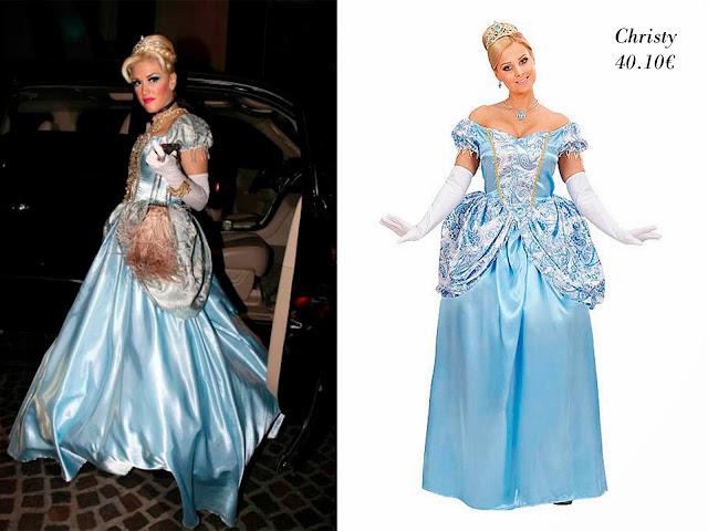 Gwen Stefani disfrazada de Cenicienta y disfraz de Cenicienta de Christy