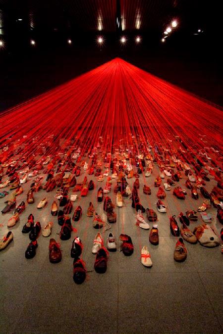 Las instalaciones de Chiharu Shiota