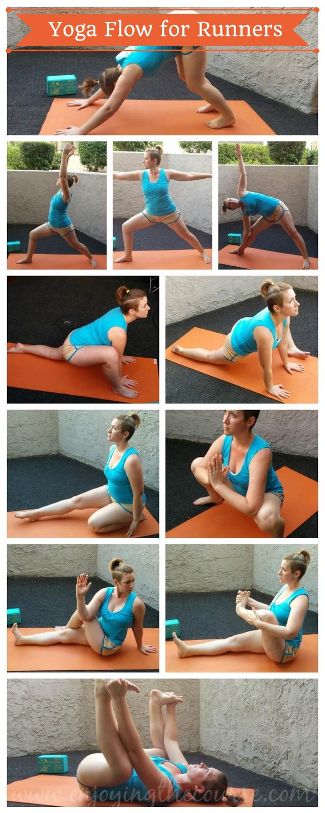 Yoga Flow for Runners | enjoyingthecourse.com