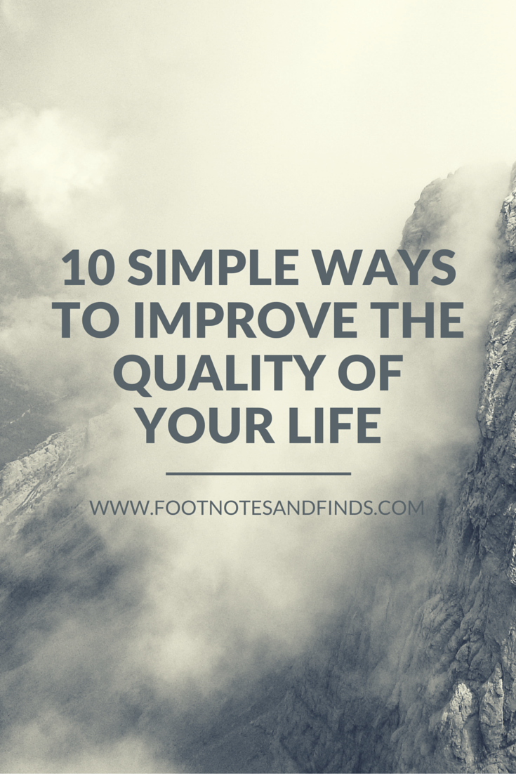 ten simple ways to improve my