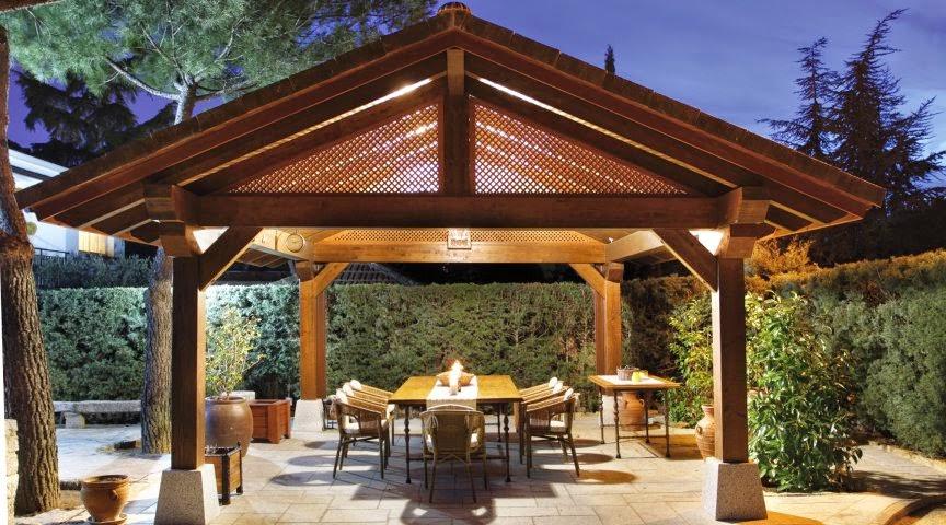 Cenador de jardín de grandes dimensiones